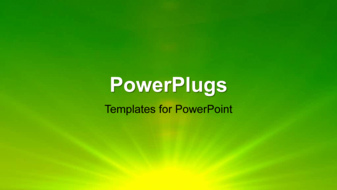 PowerPoint Template - An abstract Vector illustration of soft green background with light streaks.